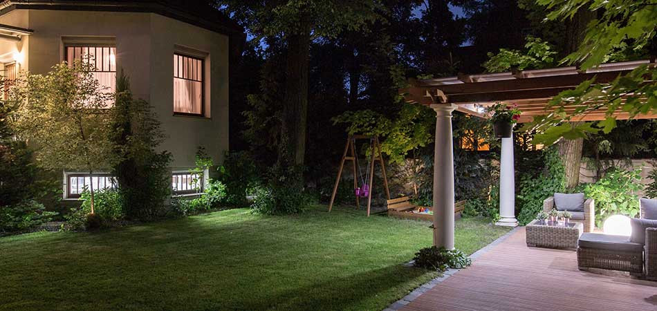 Our latest client in Geneva wanted us to incorporate uplighting and spotlighting into their outdoor lighting installation project.